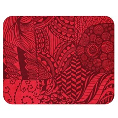 Deep Red Background Abstract Double Sided Flano Blanket (medium)  by Simbadda