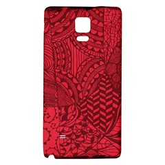 Deep Red Background Abstract Galaxy Note 4 Back Case