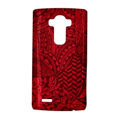 Deep Red Background Abstract Lg G4 Hardshell Case by Simbadda