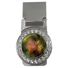 Abstract Brush Strokes In A Floral Pattern  Money Clips (cz)  by Simbadda