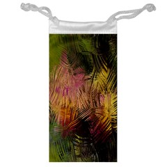 Abstract Brush Strokes In A Floral Pattern  Jewelry Bag by Simbadda