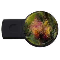 Abstract Brush Strokes In A Floral Pattern  Usb Flash Drive Round (4 Gb) by Simbadda