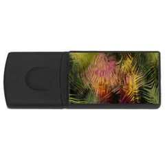 Abstract Brush Strokes In A Floral Pattern  Usb Flash Drive Rectangular (4 Gb) by Simbadda