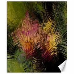 Abstract Brush Strokes In A Floral Pattern  Canvas 8  X 10  by Simbadda