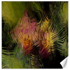 Abstract Brush Strokes In A Floral Pattern  Canvas 16  X 16   by Simbadda