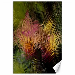 Abstract Brush Strokes In A Floral Pattern  Canvas 24  X 36  by Simbadda