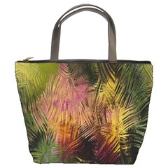 Abstract Brush Strokes In A Floral Pattern  Bucket Bags by Simbadda