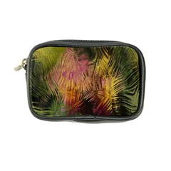 Abstract Brush Strokes In A Floral Pattern  Coin Purse by Simbadda