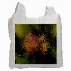 Abstract Brush Strokes In A Floral Pattern  Recycle Bag (two Side)  by Simbadda