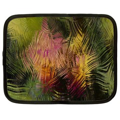 Abstract Brush Strokes In A Floral Pattern  Netbook Case (xxl)  by Simbadda