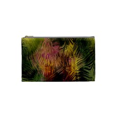 Abstract Brush Strokes In A Floral Pattern  Cosmetic Bag (small)  by Simbadda