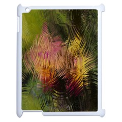 Abstract Brush Strokes In A Floral Pattern  Apple Ipad 2 Case (white) by Simbadda