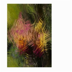 Abstract Brush Strokes In A Floral Pattern  Large Garden Flag (two Sides) by Simbadda