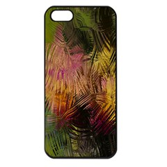 Abstract Brush Strokes In A Floral Pattern  Apple Iphone 5 Seamless Case (black) by Simbadda