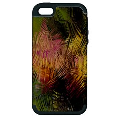 Abstract Brush Strokes In A Floral Pattern  Apple iPhone 5 Hardshell Case (PC+Silicone)