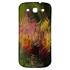 Abstract Brush Strokes In A Floral Pattern  Samsung Galaxy S3 S Iii Classic Hardshell Back Case by Simbadda