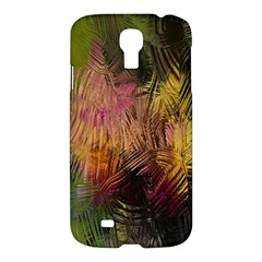 Abstract Brush Strokes In A Floral Pattern  Samsung Galaxy S4 I9500/i9505 Hardshell Case by Simbadda