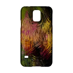 Abstract Brush Strokes In A Floral Pattern  Samsung Galaxy S5 Hardshell Case  by Simbadda