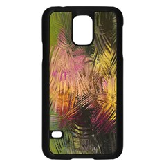 Abstract Brush Strokes In A Floral Pattern  Samsung Galaxy S5 Case (black) by Simbadda