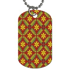 Beautiful Abstract Pattern Background Wallpaper Seamless Dog Tag (one Side)