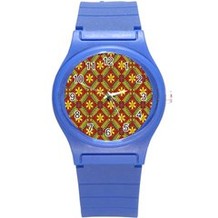 Beautiful Abstract Pattern Background Wallpaper Seamless Round Plastic Sport Watch (s) by Simbadda