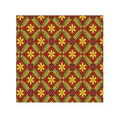 Beautiful Abstract Pattern Background Wallpaper Seamless Small Satin Scarf (square) by Simbadda