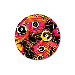Abstract Clutter Pattern Baffled Field Magnet 3  (round) by Simbadda