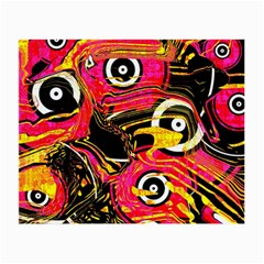 Abstract Clutter Pattern Baffled Field Small Glasses Cloth by Simbadda