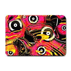 Abstract Clutter Pattern Baffled Field Small Doormat  by Simbadda