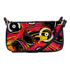 Abstract Clutter Pattern Baffled Field Shoulder Clutch Bags by Simbadda