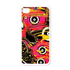 Abstract Clutter Pattern Baffled Field Apple Iphone 4 Case (white) by Simbadda