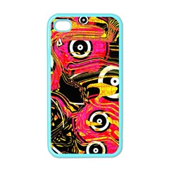Abstract Clutter Pattern Baffled Field Apple Iphone 4 Case (color) by Simbadda