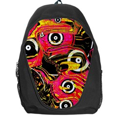 Abstract Clutter Pattern Baffled Field Backpack Bag by Simbadda