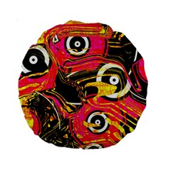 Abstract Clutter Pattern Baffled Field Standard 15  Premium Round Cushions by Simbadda