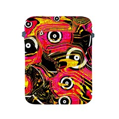 Abstract Clutter Pattern Baffled Field Apple Ipad 2/3/4 Protective Soft Cases by Simbadda