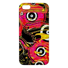 Abstract Clutter Pattern Baffled Field Iphone 5s/ Se Premium Hardshell Case by Simbadda