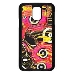 Abstract Clutter Pattern Baffled Field Samsung Galaxy S5 Case (black) by Simbadda