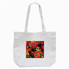 Abstract Clutter Pattern Baffled Field Tote Bag (white) by Simbadda