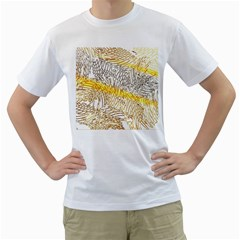 Abstract Composition Pattern Men s T Shirt (white) (two Sided) by Simbadda