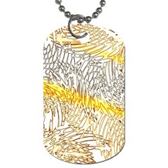 Abstract Composition Pattern Dog Tag (two Sides) by Simbadda