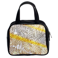 Abstract Composition Pattern Classic Handbags (2 Sides) by Simbadda