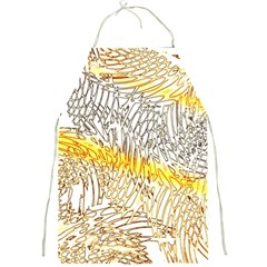 Abstract Composition Pattern Full Print Aprons by Simbadda