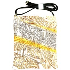 Abstract Composition Pattern Shoulder Sling Bags by Simbadda