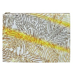 Abstract Composition Pattern Cosmetic Bag (xxl)  by Simbadda