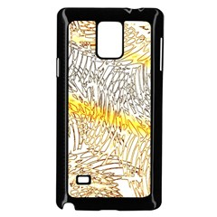 Abstract Composition Pattern Samsung Galaxy Note 4 Case (black) by Simbadda