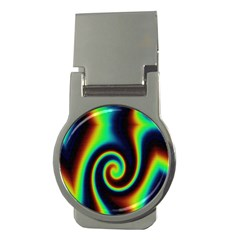 Background Colorful Vortex In Structure Money Clips (round)  by Simbadda
