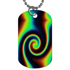 Background Colorful Vortex In Structure Dog Tag (two Sides) by Simbadda