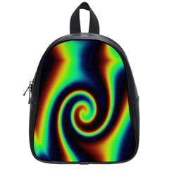 Background Colorful Vortex In Structure School Bags (small)  by Simbadda