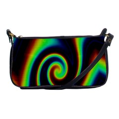 Background Colorful Vortex In Structure Shoulder Clutch Bags by Simbadda