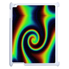 Background Colorful Vortex In Structure Apple Ipad 2 Case (white) by Simbadda